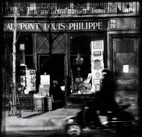 Au Pont Louis-Philippe by Loucos