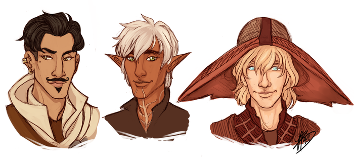 A Rogue, a Warrior and a Mage by naomi-makes-art73