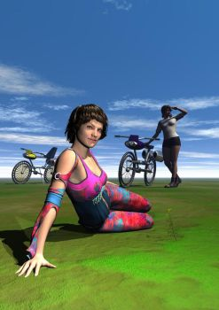TheakersGirlswithbikes2 by HSWatts