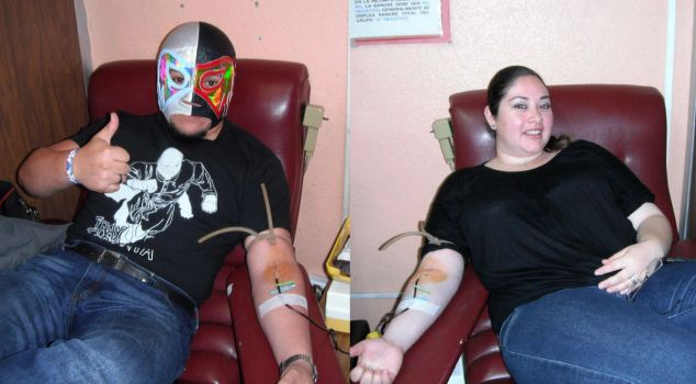 Donate blood with love by Azrael-Luchador