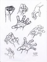 Hand Study1 1-3-2014 by myconius