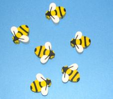 Bee Erasers by Stock-By-Crystal