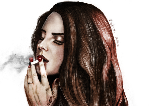 Lana Del Rey 3 colored by iKammy