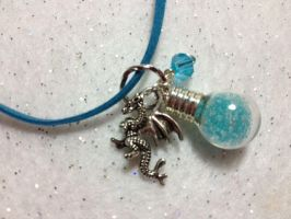 Ice Dragon Necklace by AestheticSaturn