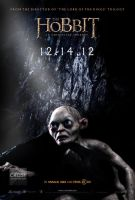 The Hobbit Gollum fan poster by crqsf