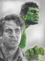 Hulk / Bruce Banner (Mark Ruffalo) Drawing by johndibiase