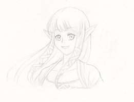 Zelda -Skyward Sword- Sketch by ChaosSoda