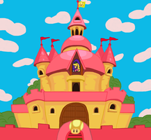 Princess Peach's Castle by NY-Disney-fan1955
