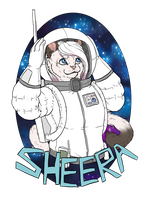 Sheera in Space by Kampfkewob