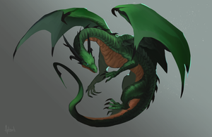 Female Dragon by Artsed
