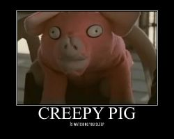 Creepy Pig by ZombieKiller1357