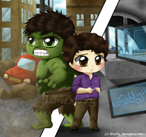 Chibi Bruce Banner - Hulk by Isi-Daddy