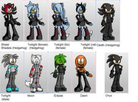 All Characters by darkspinesonic13
