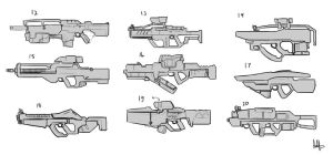 AFF-rifles concepts 2 by MeganeRid