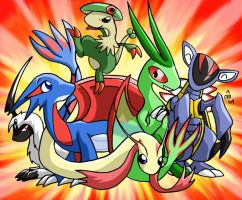 Kirydos' Pokemon Team by raizy