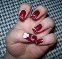 Pearls and Roses manicure by chocobo-kisses