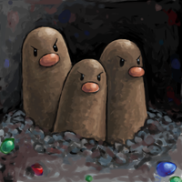 dugtrio by SailorClef