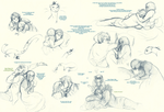 Snail and Ermine Sketchdump by Lear-is-not-amused