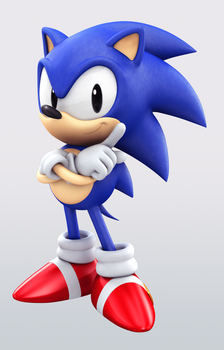 Classic Sonic - Artwork by Elesis-Knight