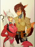 Magician and Pirate Fox .:colored:. by Pocki07