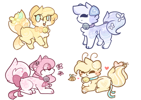 :CLOSED: 0/4 Pomcake adoptables by Bunaberry