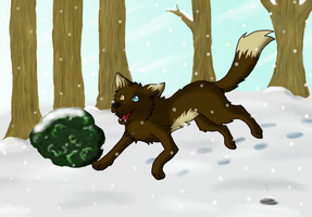 I like jumping in the snow by Limeclaw