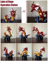 Lake of Rage Gyarados Statue by SilkenCat