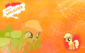 FiM: Filly Applejack Wallpaper by M24Designs