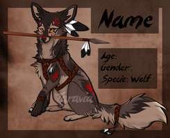 Native Tribal wolf auction CLOSED by TaraviAdopts