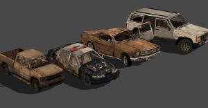 CRASHED CAR PACK by Oo-FiL-oO