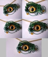 Green Gold Baby Beholder Kin by LadyPirotessa