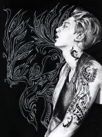 Tattoo Chanyeol by AlmightyCrow