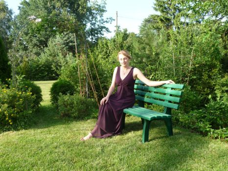 lady - garden bench 2 by indeed-stock