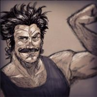 Movember day 09 by Gaugex