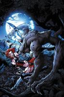 Bloodrayne Lycan cover by JPRart