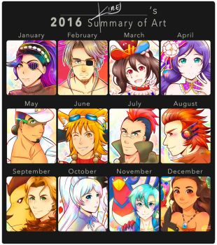 2016 Art Summary by kirej7