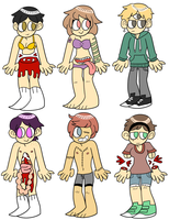 $3 Character Designs by Kontusion