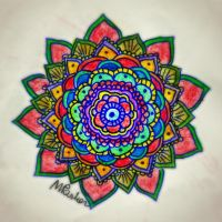 Freehand mandala /color/ by PencilsAndInk