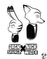 [Zootopia] Nick and Jack by Dr-Nick-Dictonrock