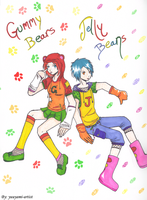 Gummy Bears and Jelly Beans by yuuyami-artist