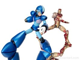 MvC - Mega Man X vs Iron Man by 0PT1C5