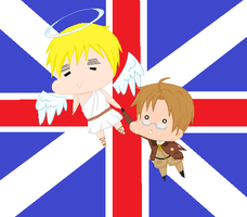 England Flies Away With America by DeathAuther