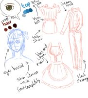 WIP: Character Sheet For Victoria by Sweet-vicci