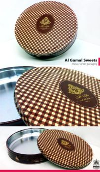 Al-Gamal-Sweets----metal-cylinder-packaging by tariqsobh