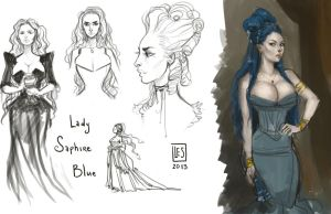 Sketch Page_Lady Saphire Blue by BlackBirdInk