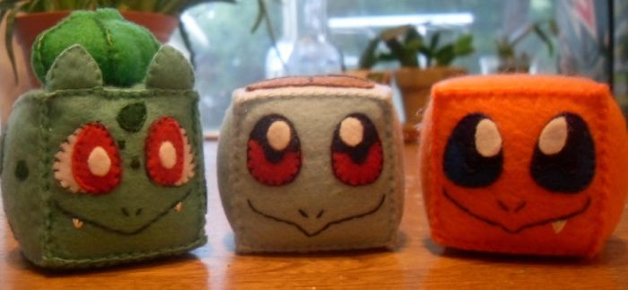 Pokecubes: Kanto Starters by beanchan