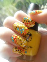 Yellow With Rhinestones by NailedItWithGlitter
