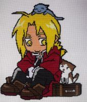 Edward Elric from Fullmetal Alchemist cross stitch by Tifa666