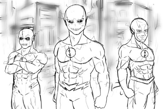 Speedsters SKETCH by ChibiBardock