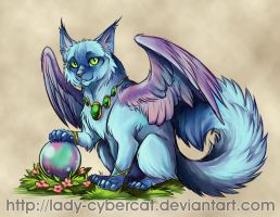 Cute Winged Kitty by lady-cybercat